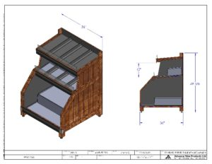 POTATO TABLE STOREFRONT MANUFACTURING DRAWING